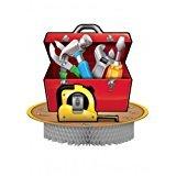 Centerpiece * BAUARBEITER * als-Tischdeko für Kindergeburtstag oder Mottoparty // Handyman von Creative Converting // Deko Kinder Geburtstag Werkzeuge Bob Baustelle