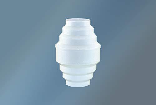 Succsale-Kondenswassersammler Farbe: Weiß - 100-150 mm Durchmesser kürzbar für 100er /125er / 150er Abluftsystem senkrechter Einbau für Rundrohr und Schläuche Abluft zum Auffangen von Kondenswasser