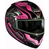 Best Modular Snowmobile Helmets - Zoan Optimus Eclipse Pink Electric Lens Modular Flip Review