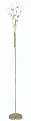 Buy Oaks Lighting Pandora Floor Standard Lamp, Antique Brass Discount