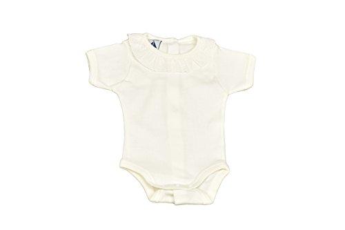 babidu Baby-Mädchen Unterwäsche-Set Body M/Corta Cuello Batista, beige, 3 Monate