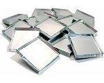 20 x 20 mm Miroir Carreaux de mosaïque de verre Carreaux de 3 mm d'épaisseur - 500