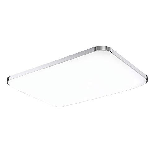 ERWEY 93x65CM LED Deckenleuchte Kaltweiß Wohnzimmer LED Deckenlampe IP44 Büro geeignet Super Hell 96W [Energieklasse A++] (Kaltweiß Standard, 93x65CM 96W) (96 Helle)