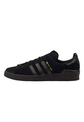 Campus Vulc Schuh (adidas Campus Vulc ADV core Black/FTW White/Gold Schuhe Größe US 9)