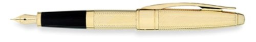 Best Cross Apogee® Executive 23ct Heavy Gold Plate Fountain Pen – Fine – Fine Special