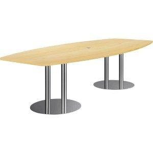Konferenztisch mit Säulenfüßen 280x130/78cm Ahorn