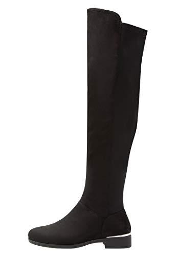 Anna Field Botas Mosqueteras para Mujer - Botas Largas con Tacón Bajo, Negro en Talla 38