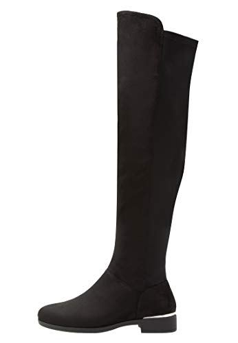 Anna Field Damen Overknee Stiefel - Langschaftstiefel flach - Schwarze Overknees, Größe 41
