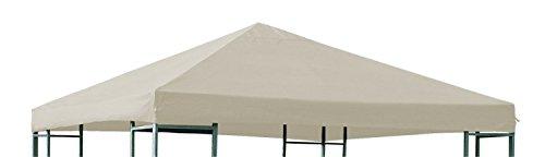 Ersatzdach für Metall und Alu Pavillon Dach Pavillondach 3 x 3 Meter Wasserdicht viele Farben, Farbe:beige