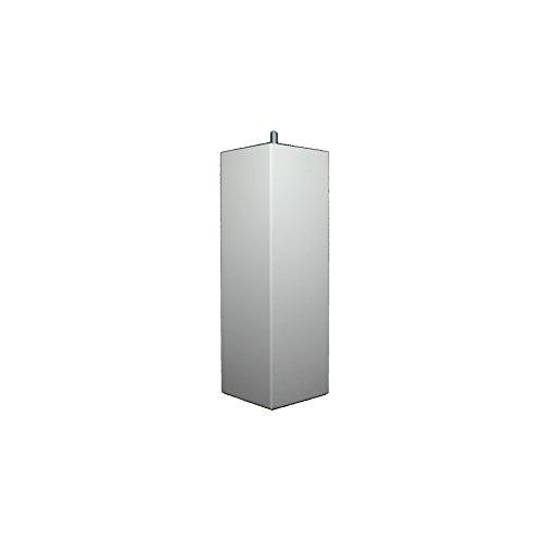 La Fabrique de Pieds Jeu de 4 Pieds de Lit, Bois, Laqué Blanc, 25 x 8 x 8 cm