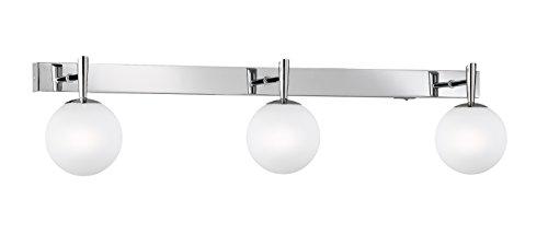 Trio-Leuchten 8801231-06 Halogen-Balken 3x28W G9 mit Schalter chrom Glas opal weiß
