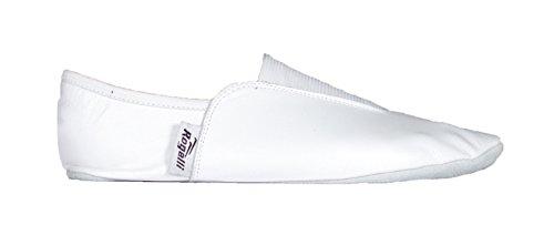 Rogelli Gymnastikschuhe echt Leder, weiches Fußbett, weiß (38)