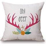 Alphadecor Deer Throw Pillow case(Fundas para almohada)18 X 18 Inches / 45...