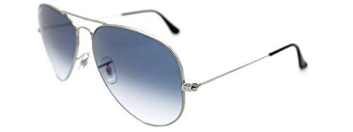 Ray-Ban Men's Ray Ban Aviator Frame 62 mm Silver Frame / Gradient Light Blue