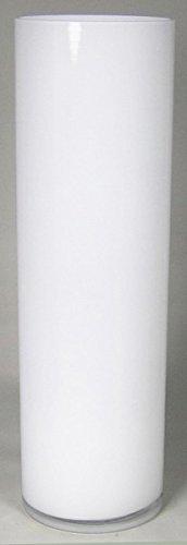 INNA Glas Bodenvase Jonas, Zylinder/rund, weiß, 50cm, Ø15cm - Große Vase/Blumenvase
