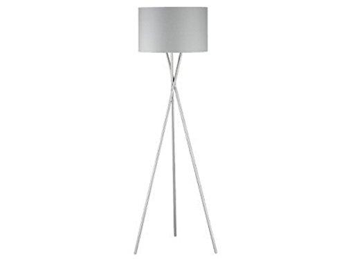 Lámpara de pie de diseño moderna con pantalla de tela gris 54 cm ...
