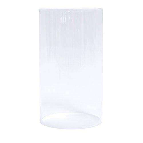 Varia Living Windlichtglas, Durchmesser 12 cm Höhe 21 cm, Glaszylinder Rund Ohne Boden, Gefertigt als Offenes Glasrohr, Ideal als Ersatzglas für Windlichter, Farbe: Transparent