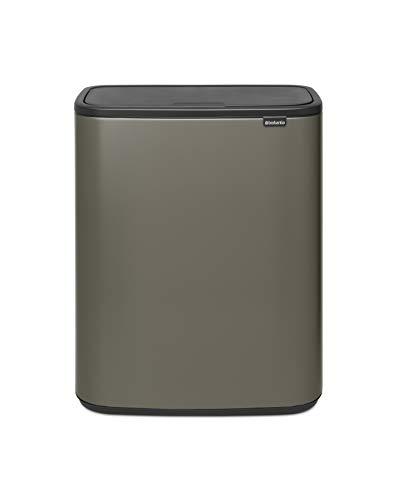 Brabantia - 221521 - Poubelle Bo Touch Bin, 2 x 30L , Platinum
