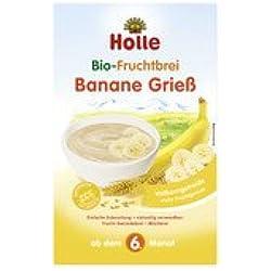 Holle bio fruta Plátano Papilla De sémola, 250g