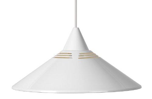 Lucide 16431/30/31 - Lampada a sospensione in metallo 1 x E27 diametro 34 cm, colore: Bianco