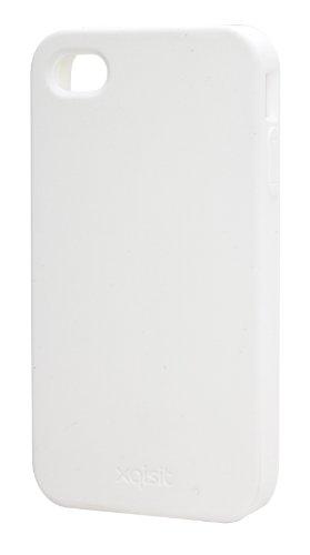 Xqisit 11602 Coque en silicone pour iPhone 4/4S Blanc