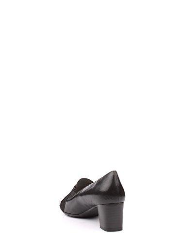 scarpa donna art X5463 Accollato classico pantofolina pelle nera Nero