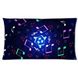 Custom Music Notes Floating Passion Background Rectangle Pillow case(Copricuscini e federe)20 X 30 Inch cloth simulation Zippered Pillow Cover - Lljpcovers One side Print