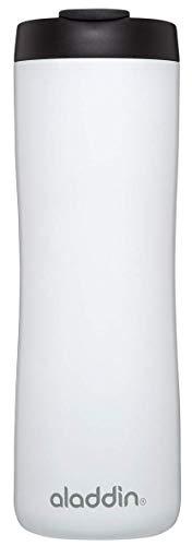 Aladdin Edelstahl-Thermobecher, 0.47 Liter, Weiß, Doppelwandig Vakuumisoliert, Auslaufsicher, Spülmaschinenfest, Kaffeebecher Isolierbecher Thermo-Becher