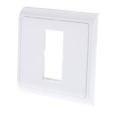 2-Gang Wall Plate für Keystone Ivory Interface Wall Plate