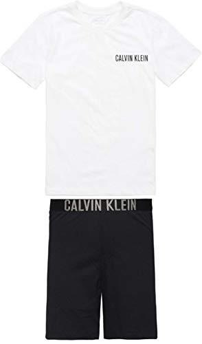Calvin Klein B70B700136 PJ Set Pyjama Junge White Black 10-12 Y -
