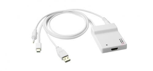 Aiino Adattatore Accessorio Collegamento da Mini Displayport e Ingresso Ottico Toslink Ad HDMI, Supporto Formato Surround 5.1, Compatibile con Porta Thunderbolt Pc Apple, Bianco