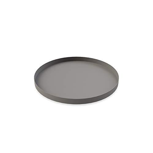 Cooee Design Tray Tablett, Edelstahl, Grau 30 cm Design Tray