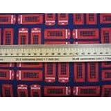 Benartex Kanvas Studios mejor de gran bretaña por Greta Lynn. Rojo tele-c 6328, algodón Quilting tela 50x 110cm (múltiples pedidos se corte como una longitud continua)