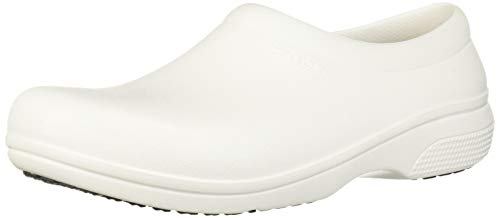 Crocs On The Clock Work Slipon, Mocassini Unisex-Adulto, Bianco (White), 41/42 EU