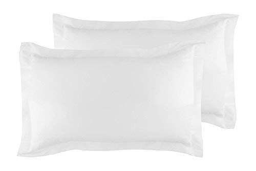 Classic Fadenzahl 500Solid Ägyptische Baumwolle Luxuriöse kissenrollen wählen Sie Farbe und Größe (alle Größen und Farben), baumwolle, weiß, Euro/Square/Continental/European Pillow Shams