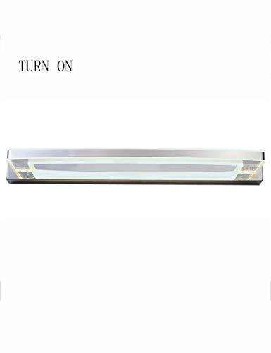 8 Lampe Vanity Licht (LZY Mode Kreativität Spiegel Bad-Lampen Led 8W Chrom Edelstahl Anti-Fog Vanity Badezimmerspiegelleuchte Licht vor - Spiegel der Überfahrt)