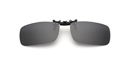 ELSA & ANNA® Unisex Flip-up Polarisierte Sonnenbrillen Klipp auf Sonnenbrille Gläsern Brille VF-GLS-F15 (Schwarz)