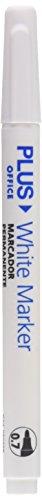 Office Plus White Marker-Pennarelli indelebili, confezione da 12, bianco