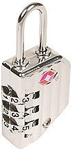 Sesamee 50001 3 Dial Resettable Combination Cable TSA Approved Travel Lock, Nickel by Sesamee