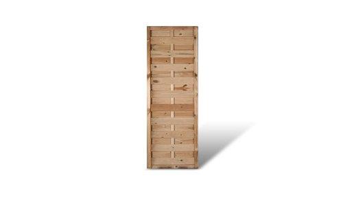 Wand Sichtschutz (Preiswerter Sichtschutz Windschutz Gartenzaun Maß 60 x 180 cm (Breite x Höhe) aus Kiefer / Fichte Holz, druckimprägniert