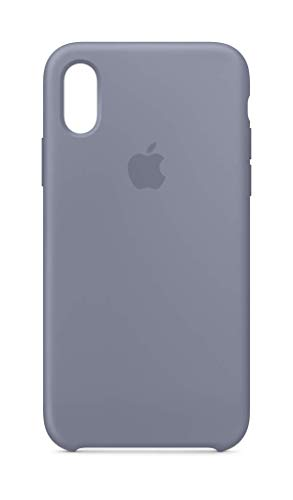 Apple Coque en Silicone (pour iPhone XS) - Gris Lavande