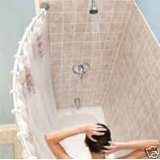 Curved shower rod - Aluminum, Adjustable 36.5 inches-66 inches, SILVER, Hardware included, Brand New by burstein804