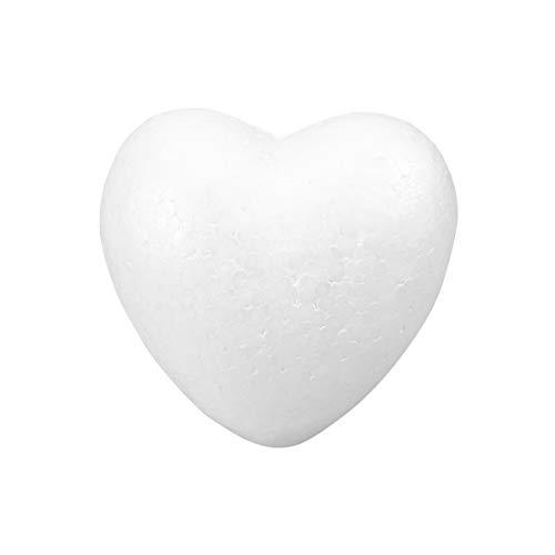 PRETYZOOM Styropor Herz ZUN Basteln Malen Styropor Ball für DIY Handwerk Material Basteln Heimwerk Hochzeitsdeko 15cm (Weiß)