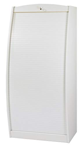 SIMMOB paris580bl Schrank Informatik geschwungene Holz weiß/wenge 60cm - Schrank Schreibtisch Weiß