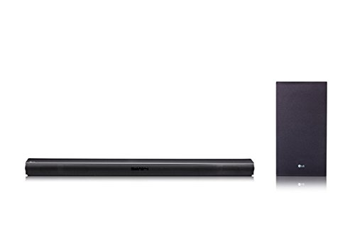 LG SJ4 2.1 Soundbar (300W, kabelloser Subwoofer, Bluetooth) schwarz (Bose-sound-bar Für Tv)