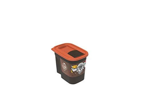 Rotho Flo Tierfutterbehälter 2.2 l , Kunststoff (PP), braun/orange mit Motiv