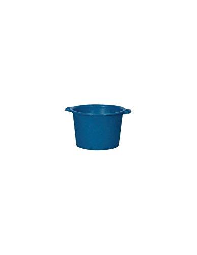 Aluminium et Plastique RIVBQRD30 Baquet Rond Plastique Bleu 30 L
