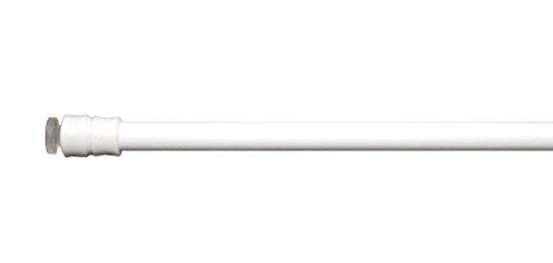 Klemmstange | Weiß | 60-90 cm Länge | Gardinenstange ausziehbar | Mit Saugnäpfen Gardinenstange Mit Saugnapf