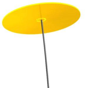 Cazador-del-sol ® | Uno | Sonnenfänger gelb, Durchmesser 20 cm, 1,75 Meter hoch - das Original