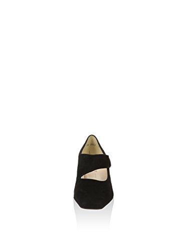 Peter Kaiser Olga Mary-jane Stile Corte Scarpe In Camoscio Nero Black Sued